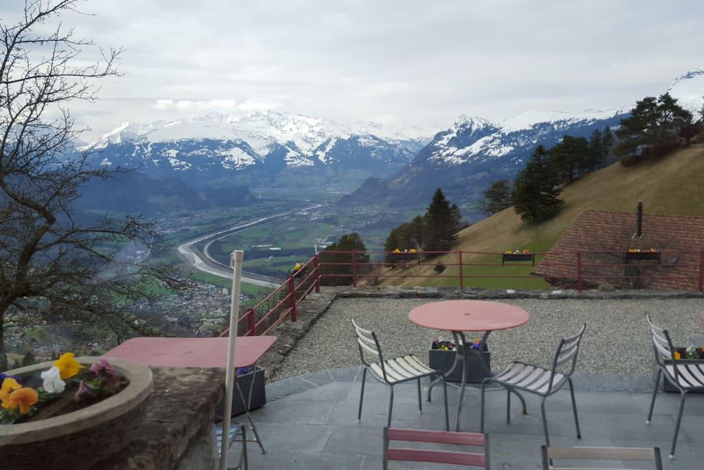 Aussicht der Berge geniessen