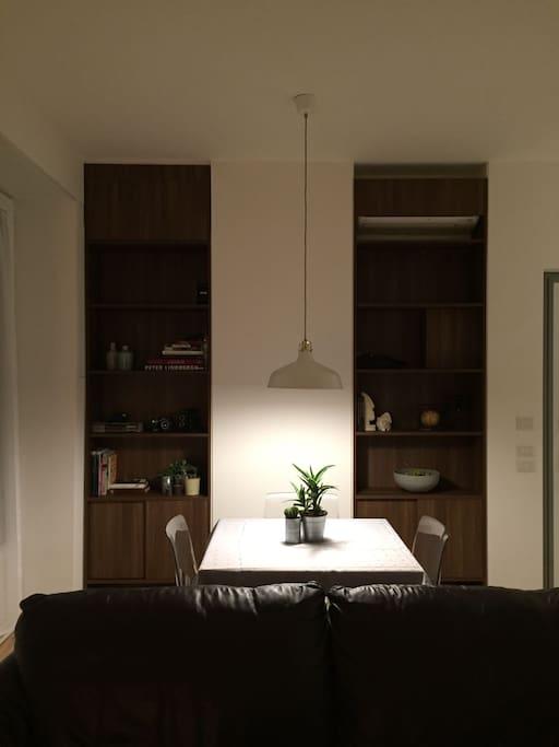 living room + dinner table