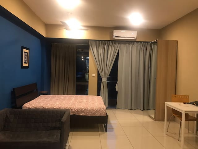Studio suite with a pool view at Glenmarie Subang