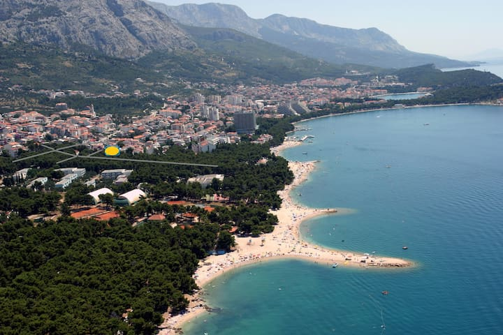 7ApartmentstudioBungalow in Flower FREE BIKE ENJOY - Makarska - Casa