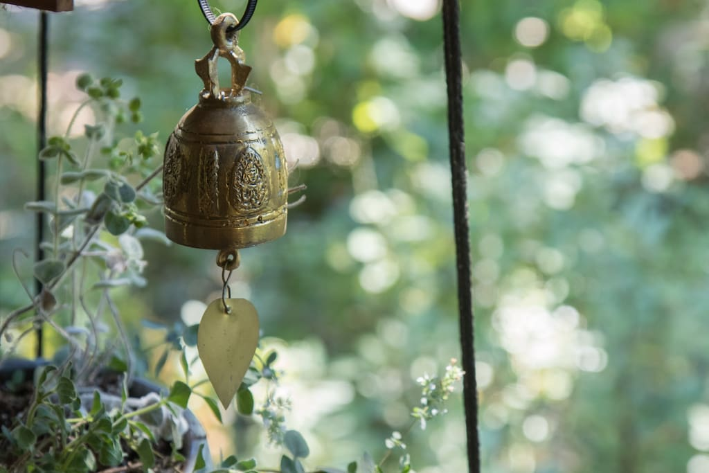 chimes from the Golden Buddha shrine in Thailand