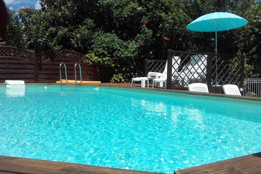 Studio dans villa avec piscine appartements louer for Piscine antibes