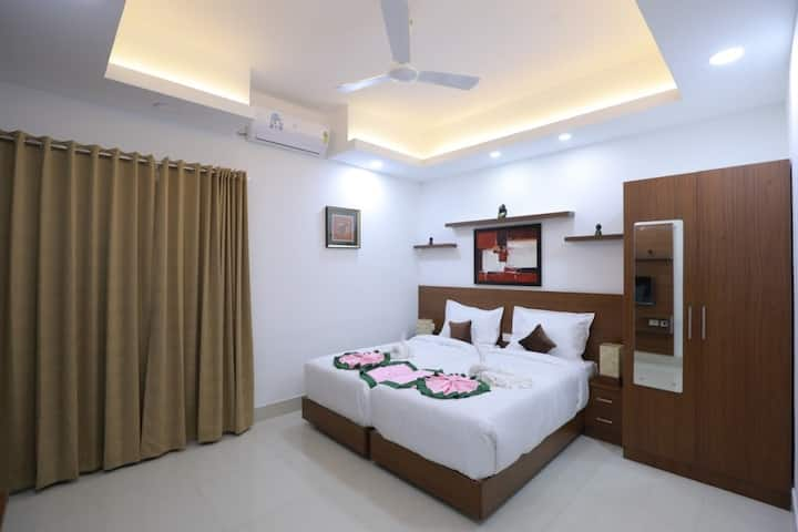 Premium Room at Swades Myhome Dharmalayam Road Nr Ayurveda College Manjalikulam Thiruvananthapuram Kerala IV