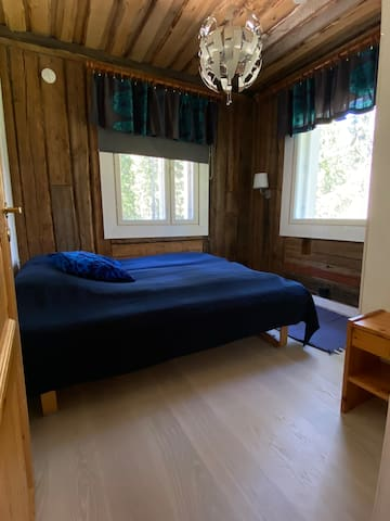 Bedroom #1 with a double bed.