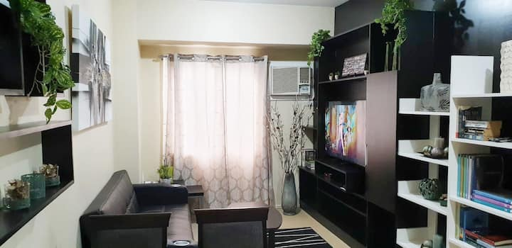 1BR Fully furnished near St Luke's wifi&cable