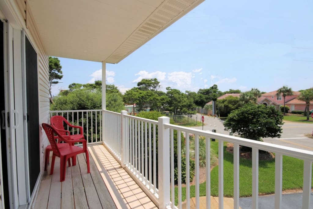 Enjoy the Crystal Blue Balcony View at Gulfside Getaway