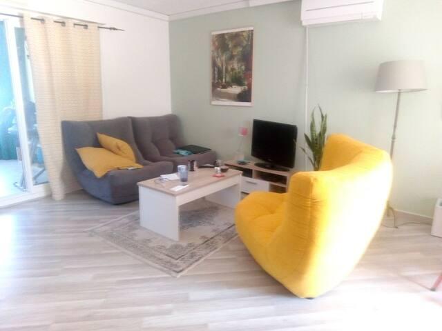 Chambre dans appartements avec terrasse