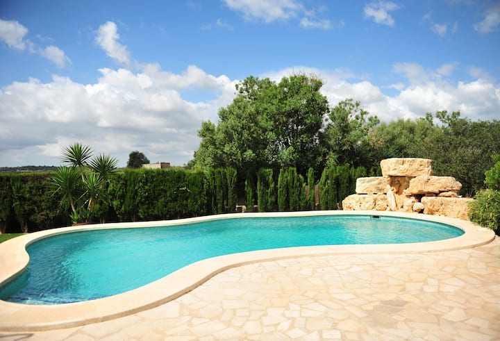 Spacious Vacation Home Son Moix with Pool, Wi-Fi, Garden & Terrace; Parking Available; Pets Allowed