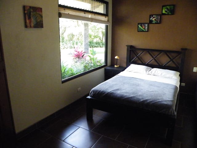 Comfortable orthopedic double bed in third bedroom