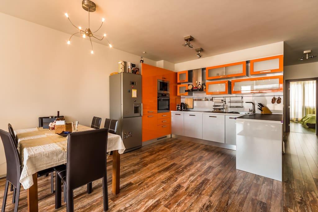 Kitchen with dining corner