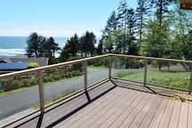 Second story south facing deck with spectacular coastline views