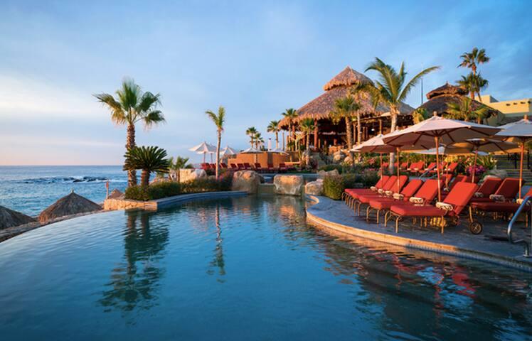 Cabo quiet beach front resort