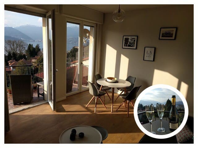 Magnificent  lake view and garage! - Laveno-Mombello Cerro - Wohnung