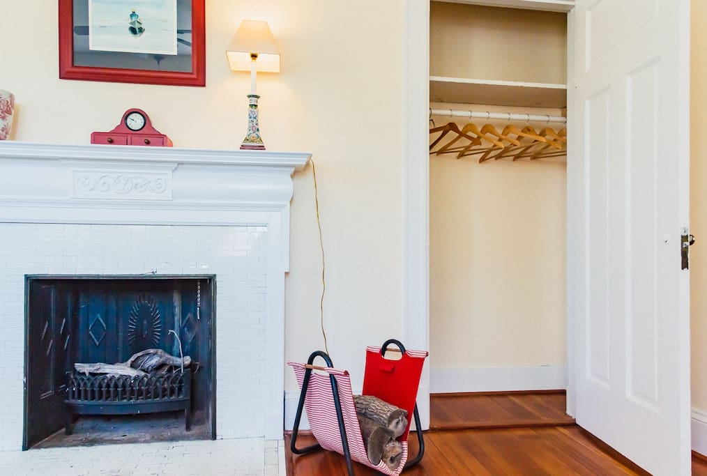 Red Room Fireplace & Closet