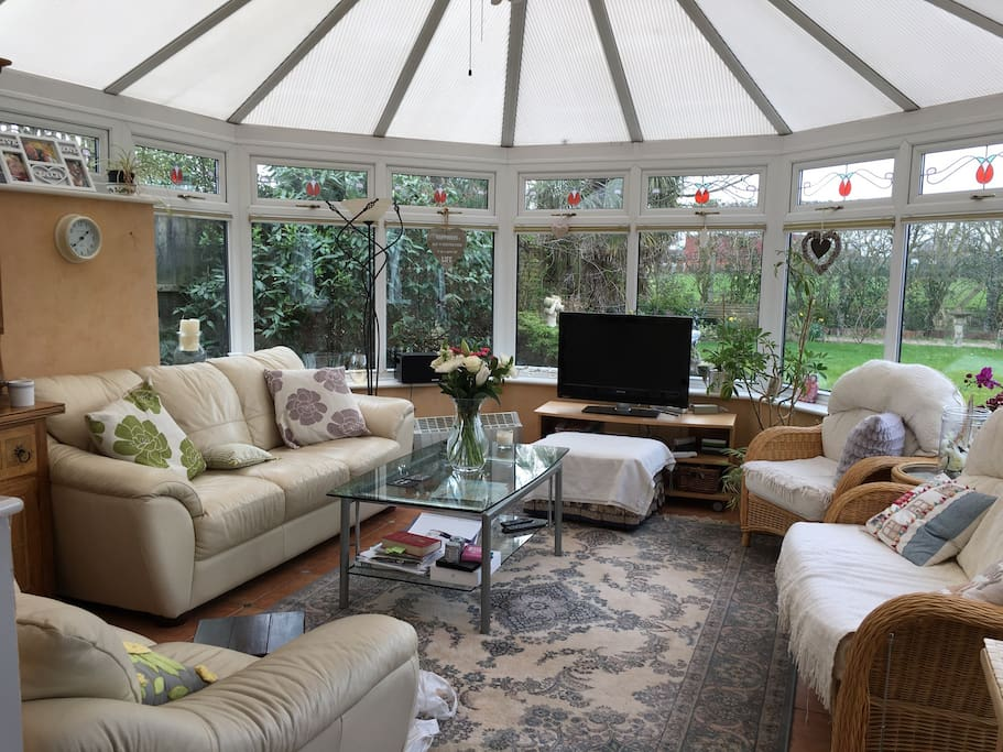 The conservatory for relaxing in