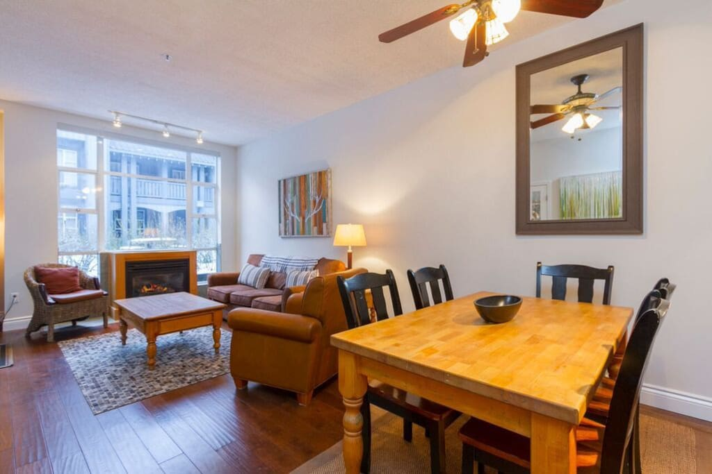 Open Concept Living/Dining/Kitchen with direct access to hot tub and pool