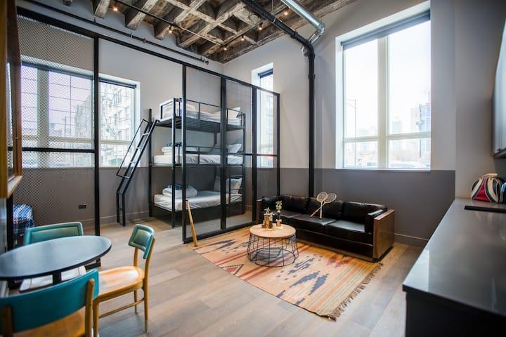 Unique & Spacious Corner Studio Loft