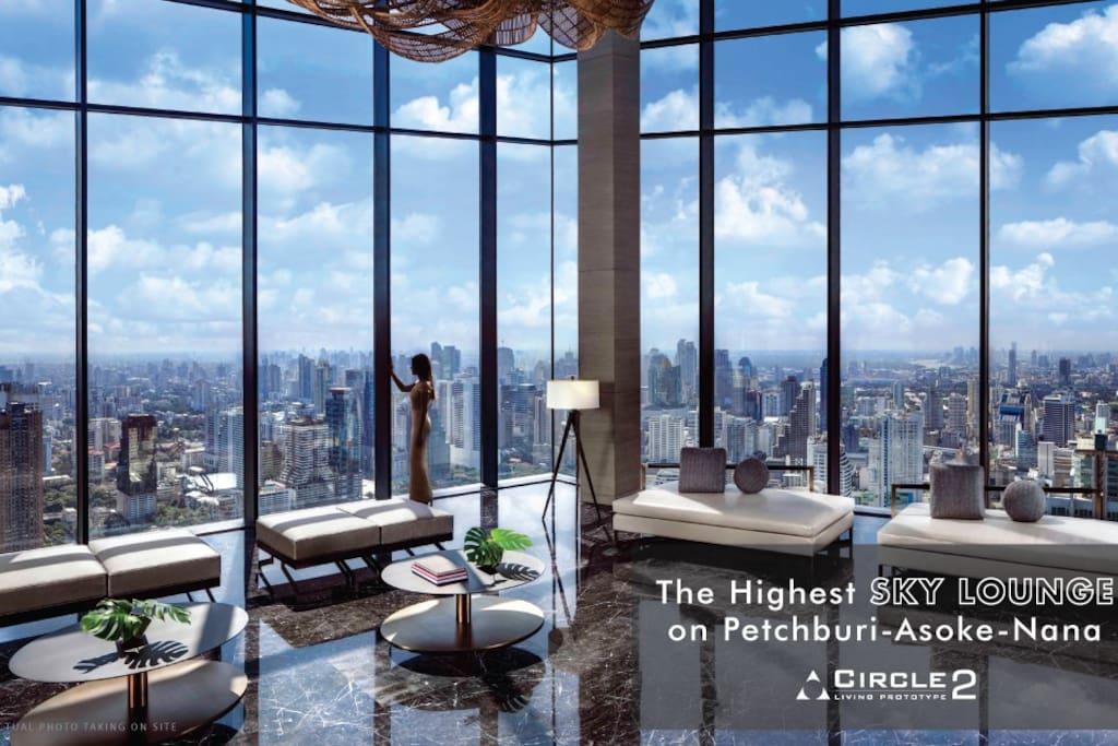 52层免费天吧270度环绕观看曼谷最中心风景,脚下就是曼谷新规划的中央公园