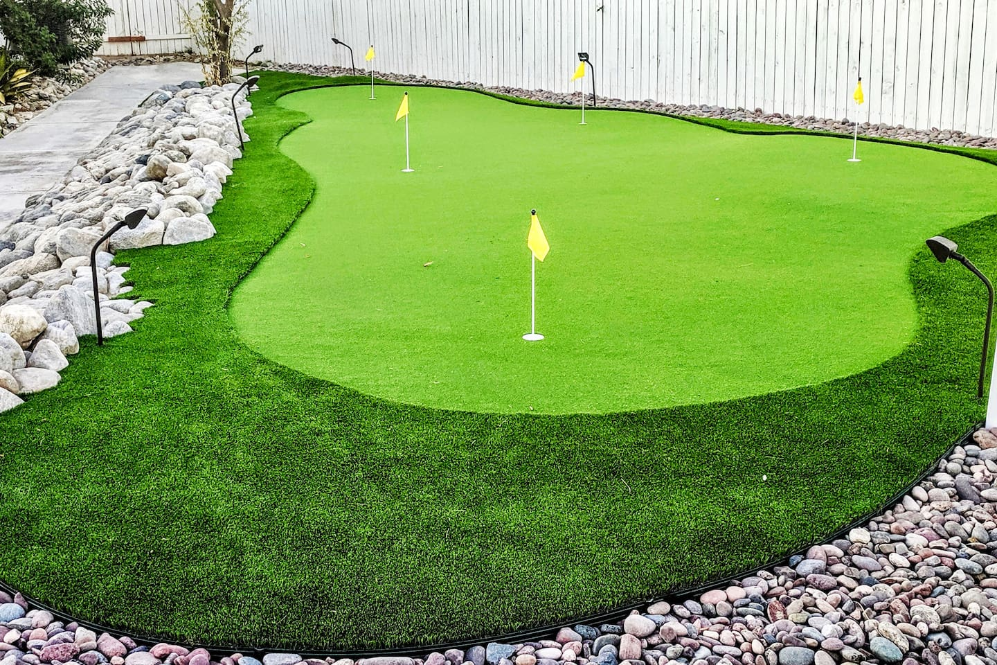 Play 5 holes of mini golf with families and friends