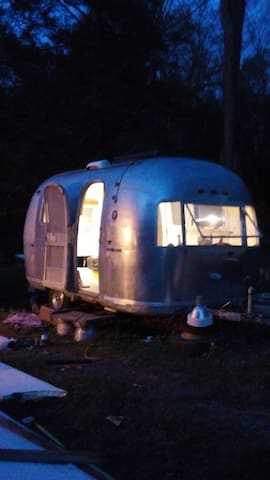 GypsyRover Airstream glamping grilling fishing
