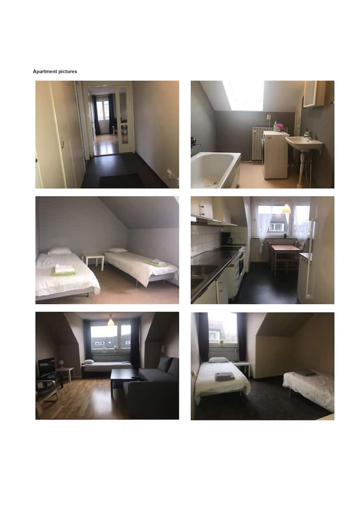 Linköping: Three room apartment with 5-6 beds