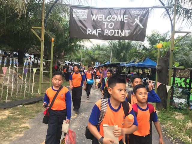 Raf Point with zipline adventure at kampung lukut.