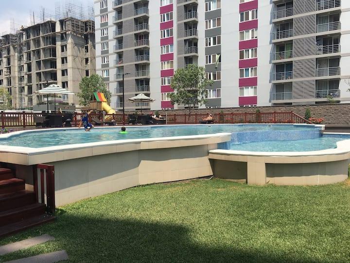 Apartamento climatizado, 2 habitaciones y piscina