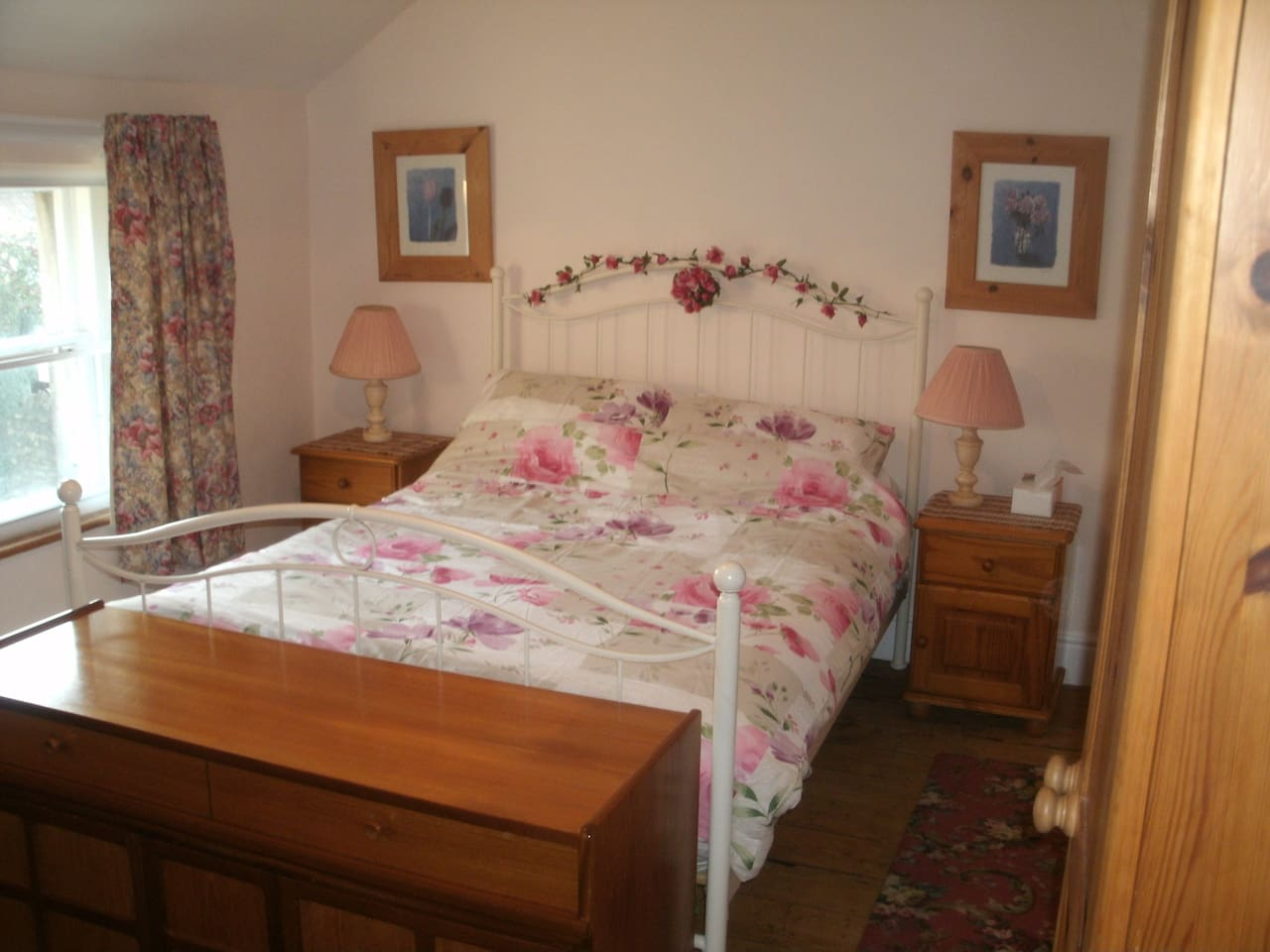 Main bedroom with standard size double bed.