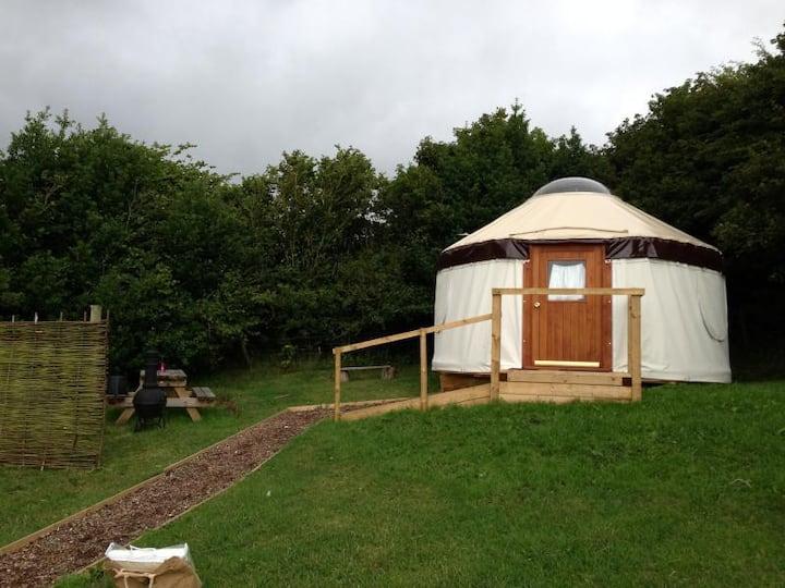 Skylark yurt,  Near Lyme Regis , River cottage