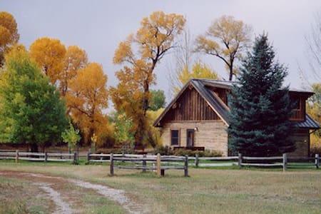 charming log cabin,views,big trout! - Big Timber