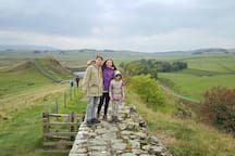 guests on Hadrian's wall