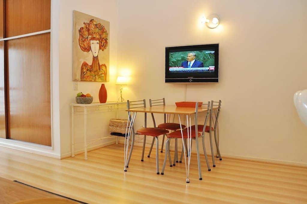 Comfortable dinning area