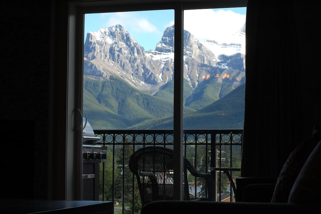 View of Mountains from Living Room