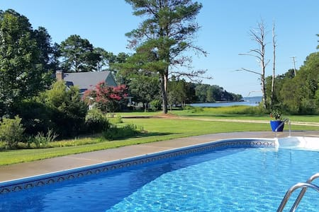 11 Acre Waterfront Farm with Private Pool and Dock