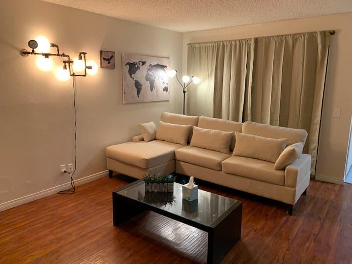 Minimalistic bedroom for sharing