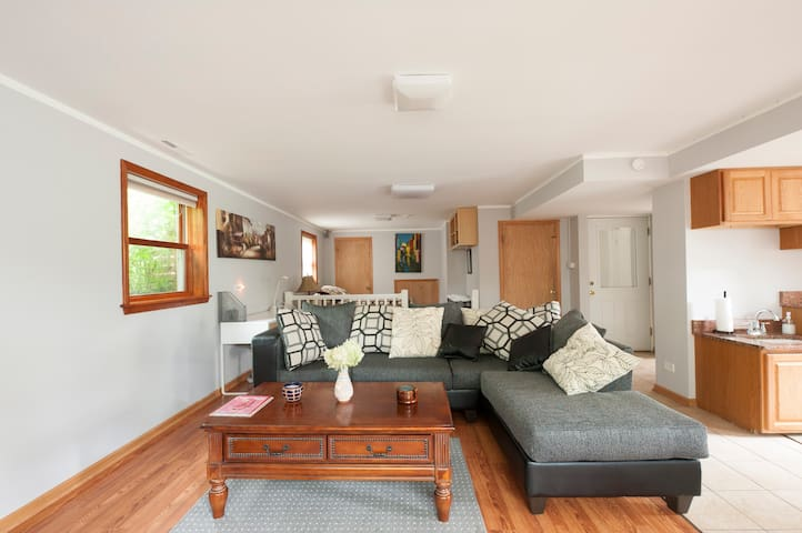 2 Private flats W/living , bedrooms & bath