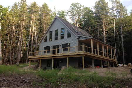 Merrymeeting Lake- New 3bedrm Home-Private Setting - New Durham - Hus