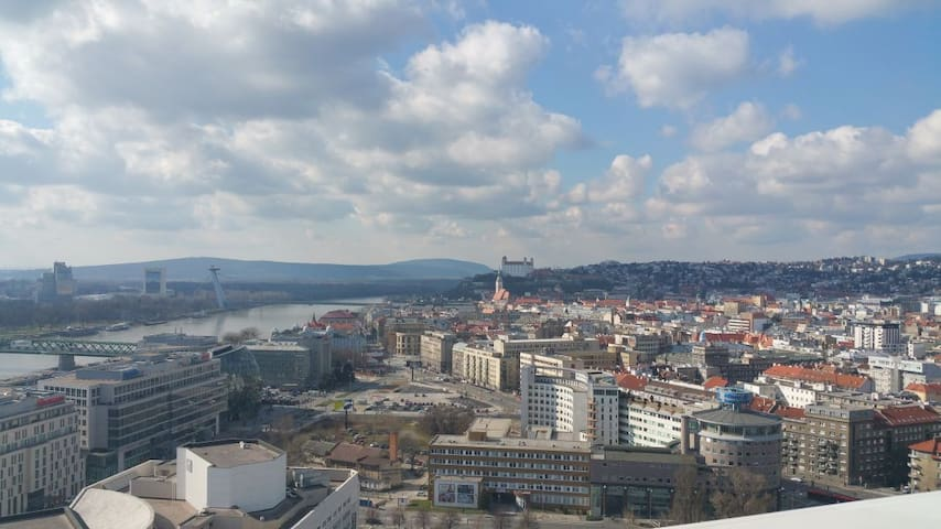 Modern flat with a panoramic view on Bratislava
