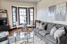 Historic charm with a modern twist. Enjoy this private 2 bedroom, 1 bath apartment with all the downtown conveniences!