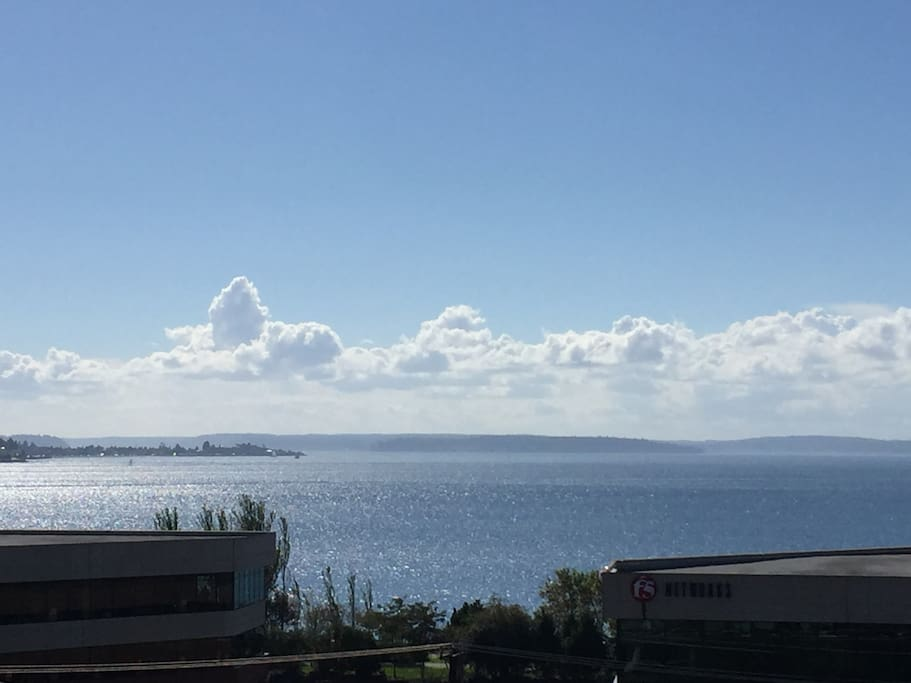View of Puget Sound from your private terrace