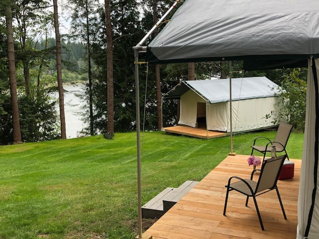 Scenic Waterfront Camping On Quadra Island