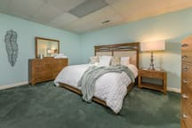 Chicken and Dumplings Suite with King Size Bed and Attached Shared Bath