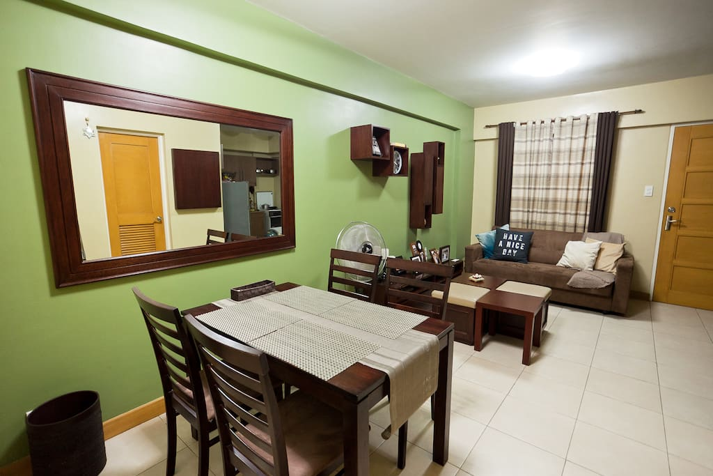 Dining Area + Living Room
