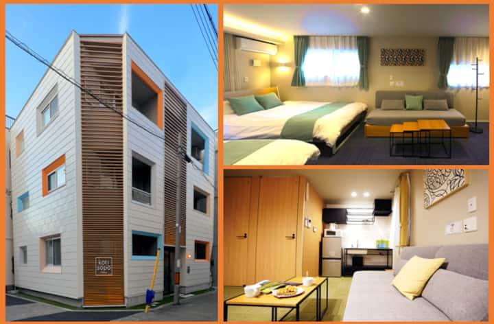 Open Sale!New Apt close to USJ, Namba, Umeda KS201