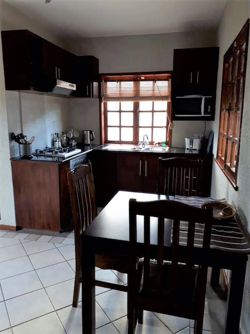 fully equipped Kitchen/Dining for four