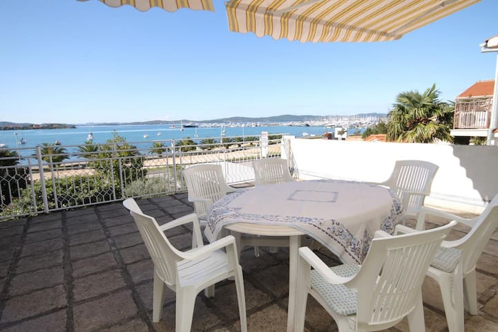 Two bedroom apartment with terrace and sea view Sukošan, Zadar (A-5802-a)
