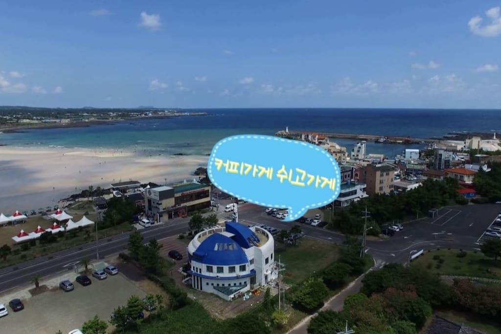 바닷가 앞 항공촬영(photo aerial )