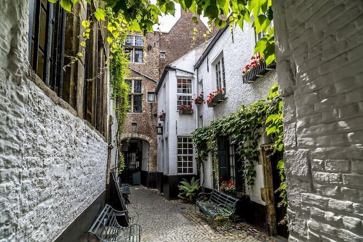 150 meters from The secret Vlaeykensgang alley