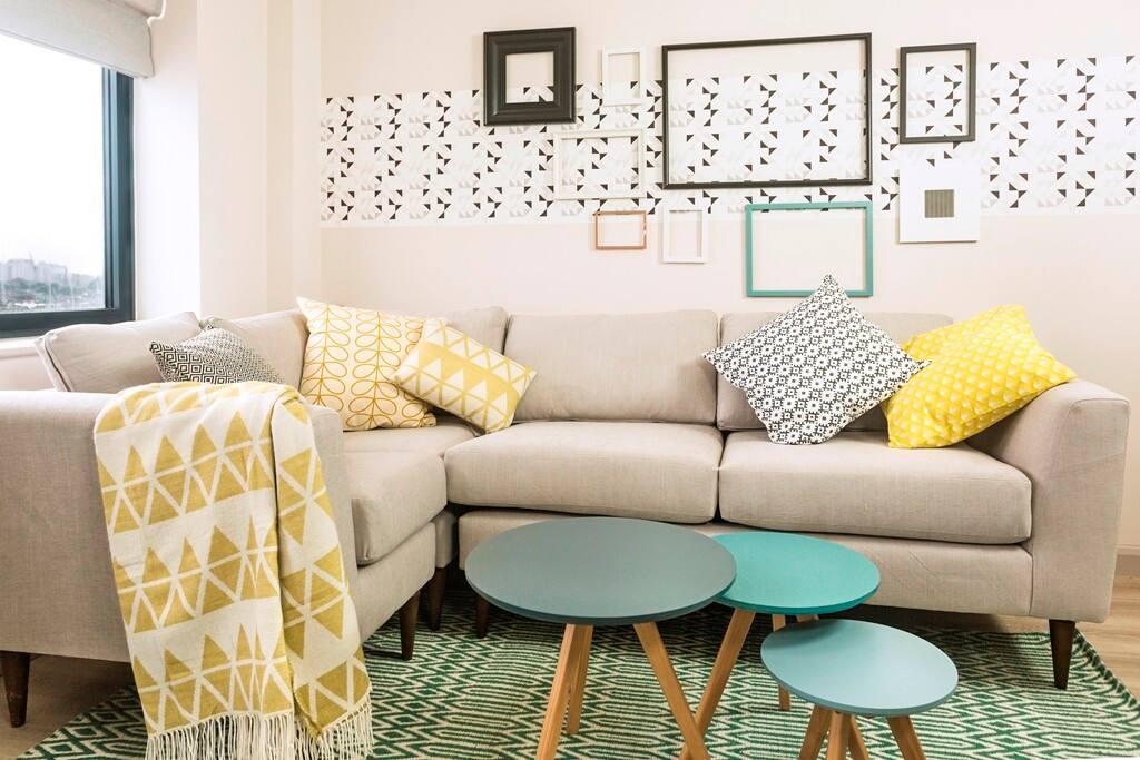 Open-plan kitchen/living room
