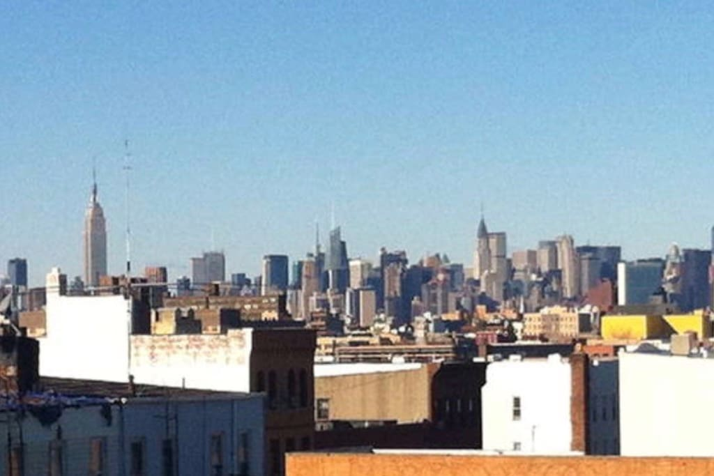 View of Manhattan skyline from the kitchen!